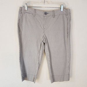 Anthropologie Paper Boy 8 Bermuda Shorts Gray Chk